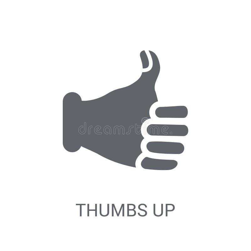 Os polegares levantam o ícone  ilustração royalty free