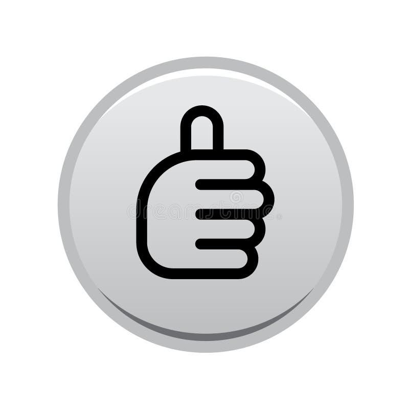 Os polegares levantam o botão do sinal ilustração do vetor