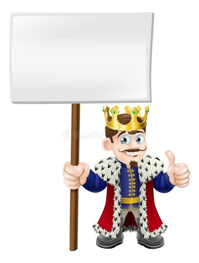 Os polegares levantam o rei do sinal ilustração royalty free