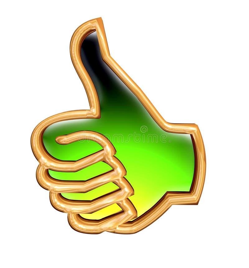 Os polegares levantam o sinal ilustração royalty free