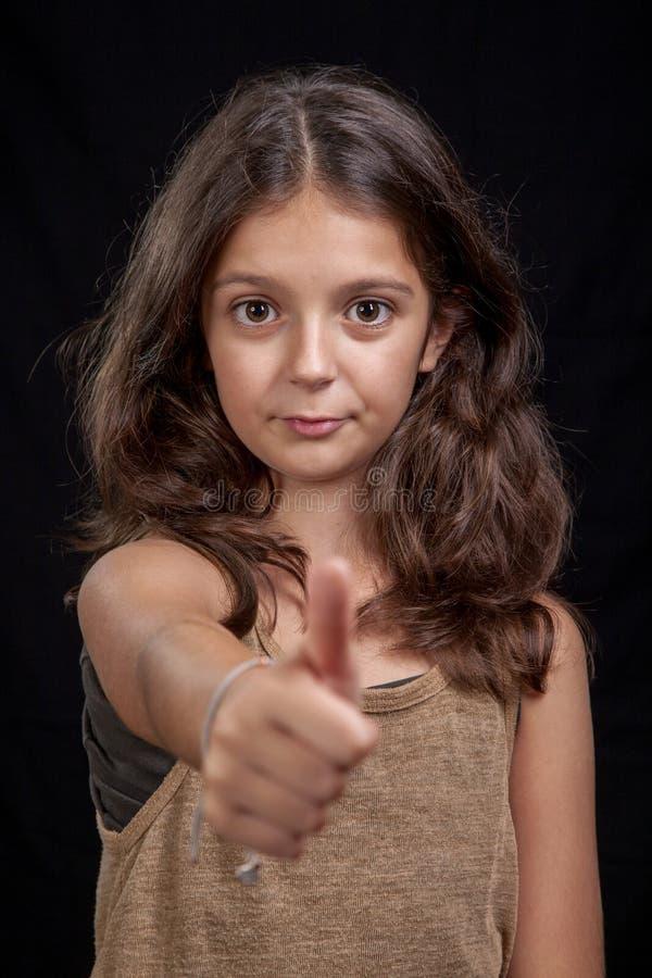 Os polegares levantam o sinal imagens de stock royalty free