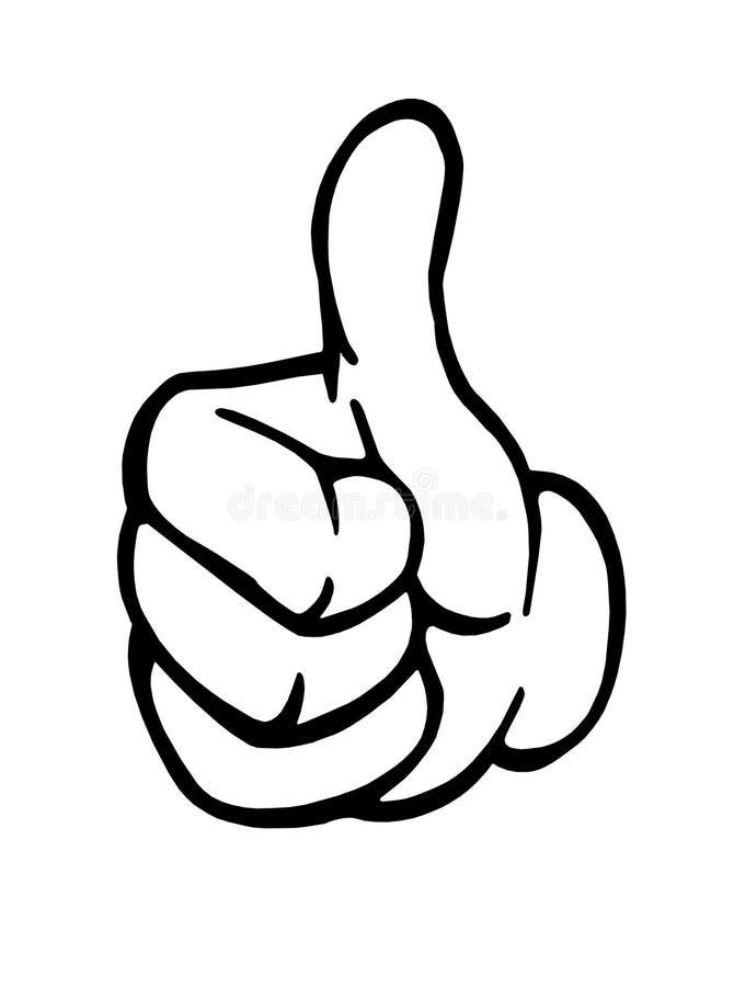 Os polegares levantam o sinal ilustração do vetor