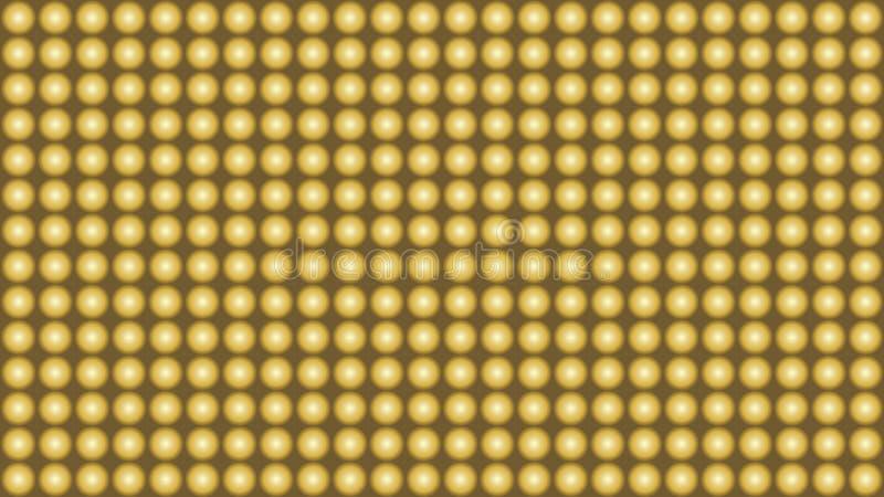 Os pontos amarelos arranjaram paralelamente linhas em um claro - fundo marrom ilustração do vetor