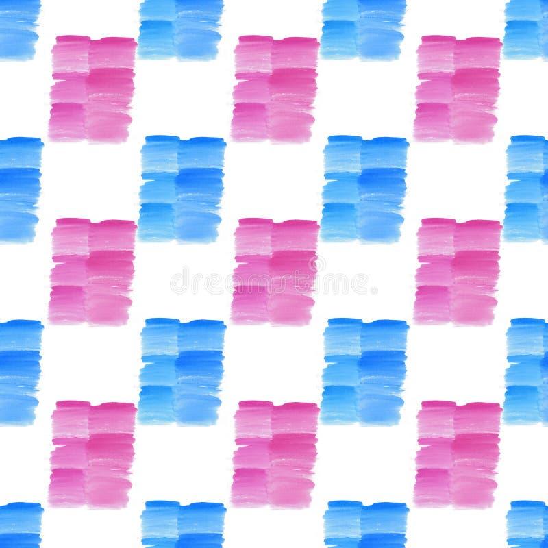 Os pontos azuis e cor-de-rosa do verão textured bonito transparente brilhante bonito abstrato borram o teste padrão ilustração royalty free