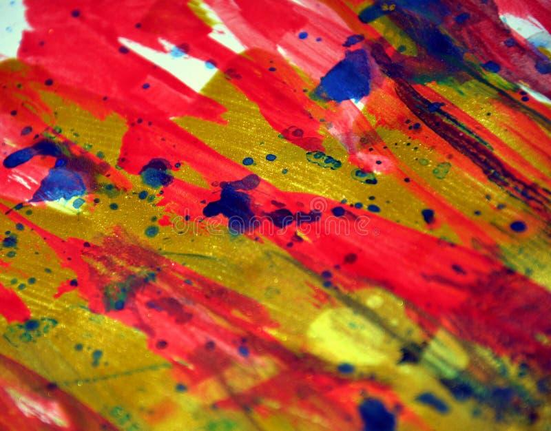 Os pontos energéticos vívidos fortes coloridos texture pontos da aquarela da pintura foto de stock