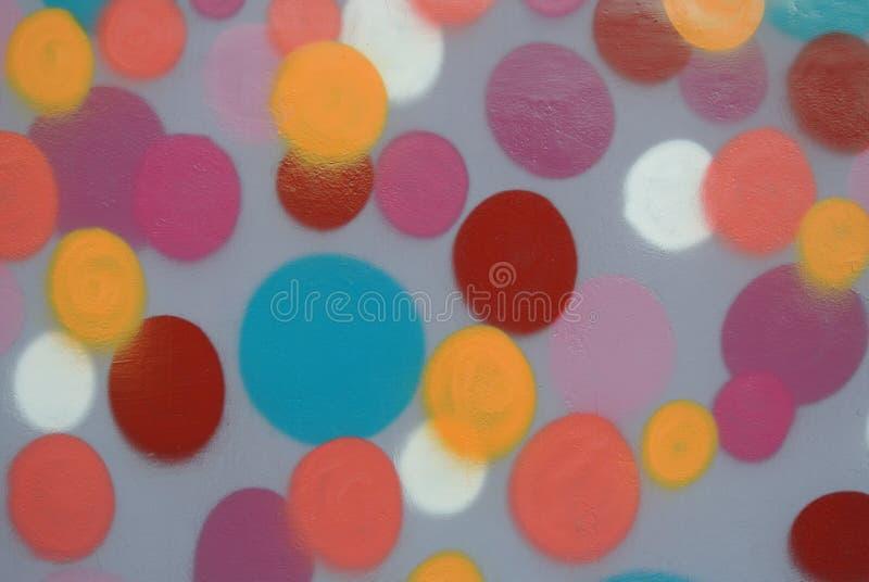 Os pontos pintaram o fundo foto de stock
