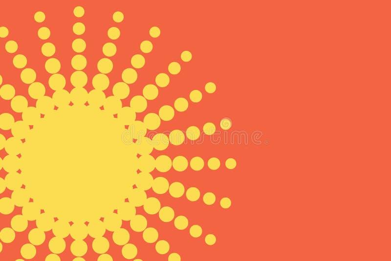 Os pontos pontilhados foto a cores do quadro do círculo do sumário da coleção dos ícones do sol da pirueta do túnel dão forma à v ilustração stock
