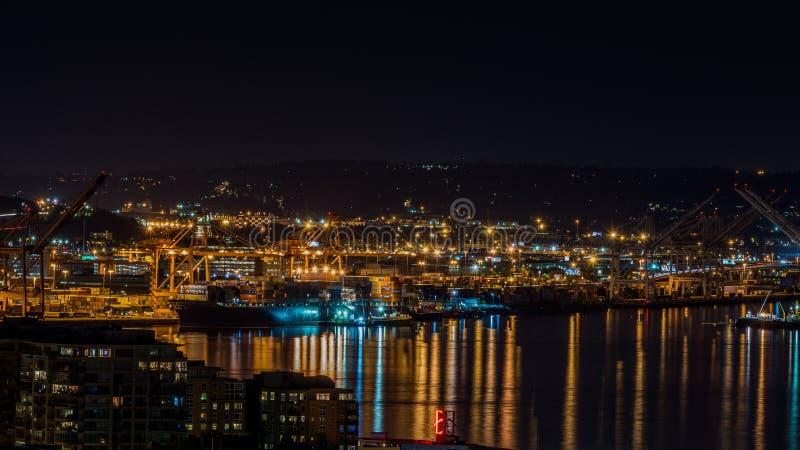 Os portos em Seattle fotografia de stock