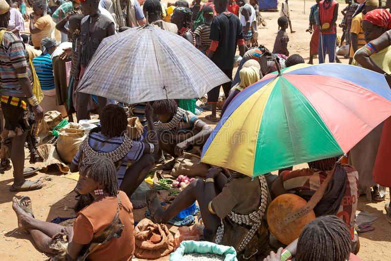 Mercado africano imagem de stock
