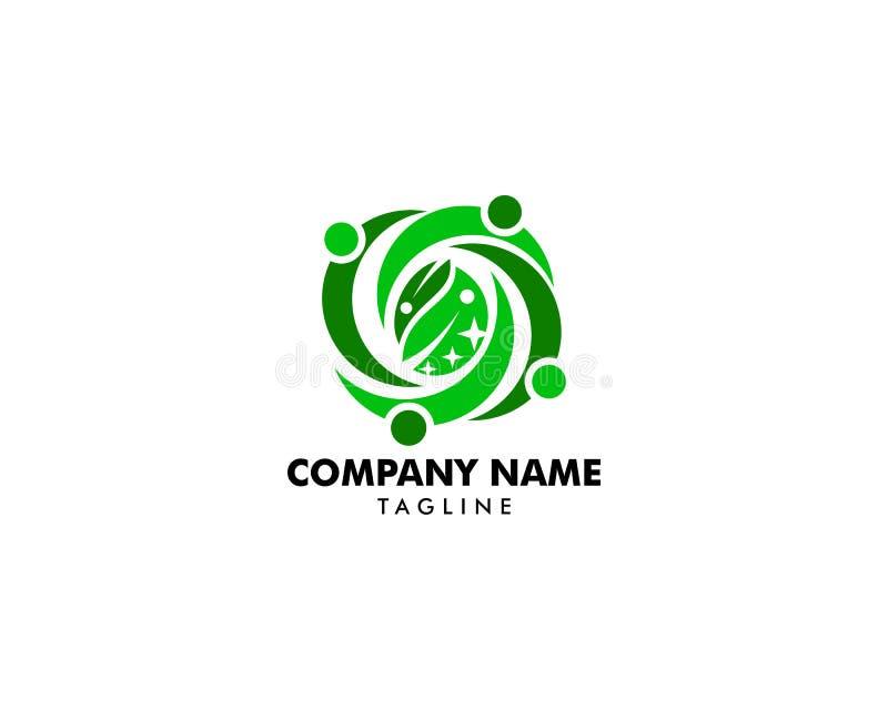 Os povos agrupam deixam Team Logo Design Illustration ilustração stock