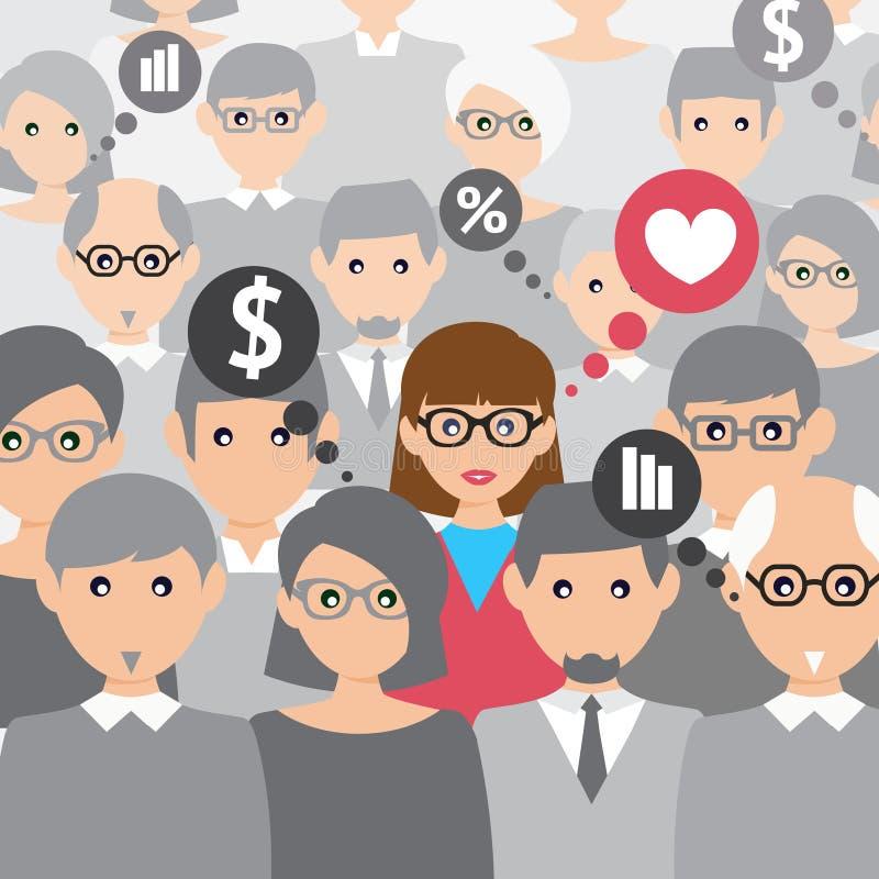 Os povos agrupam a fala ilustração stock