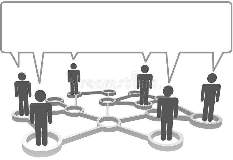Os povos comunicam o bubb do discurso da rede do negócio ilustração stock