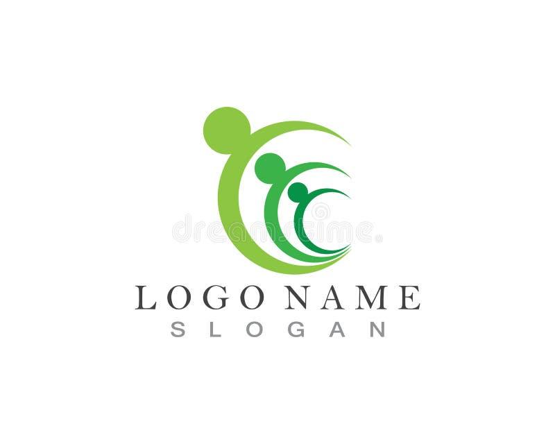 Os povos da comunidade importam-se o molde app do logotipo e do símbolo ilustração do vetor