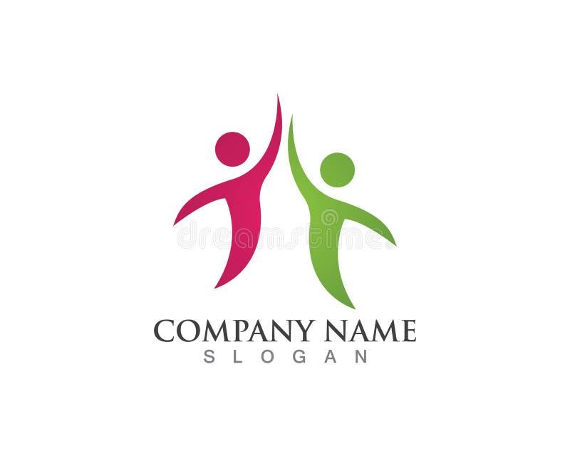 Os povos da comunidade importam-se o vetor do molde do logotipo e dos símbolos ilustração stock