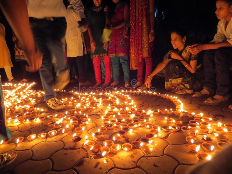 Povos de Diwali fotografia de stock