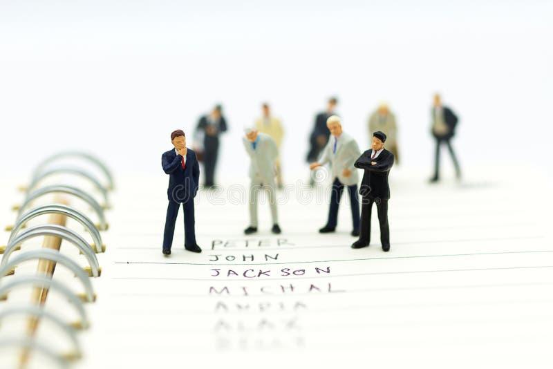 Os povos diminutos, grupo de homens de negócios trabalham com equipe, imagem de stock royalty free