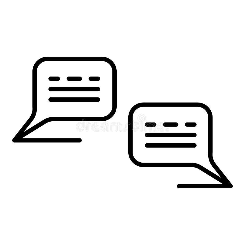 Os povos do diálogo conversam o ícone, estilo do esboço ilustração stock
