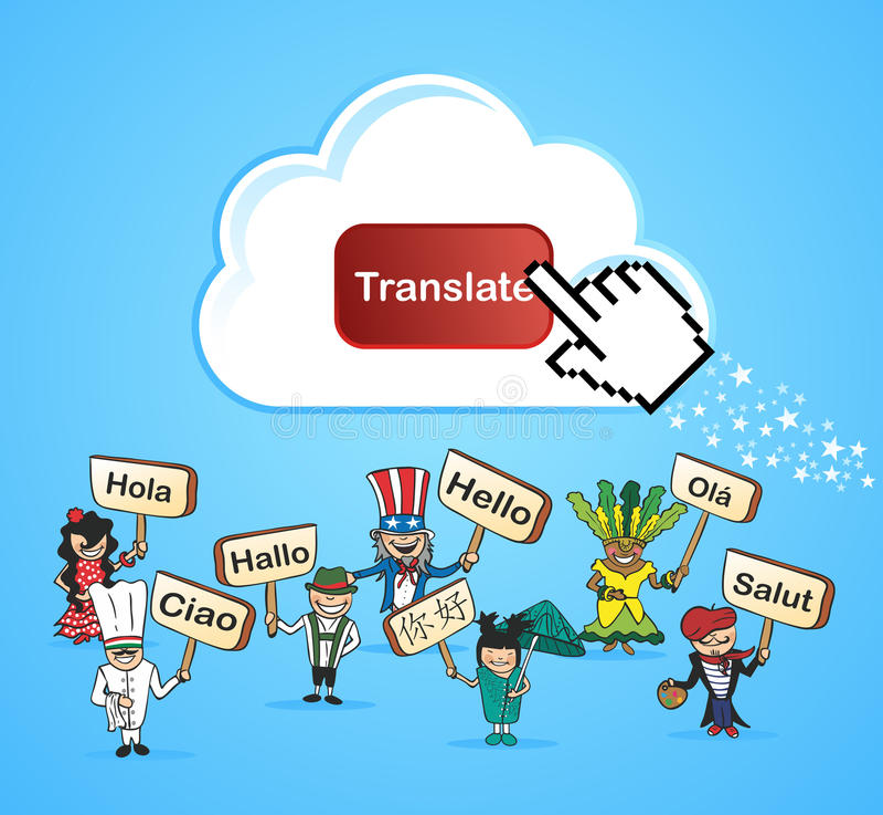 Os povos globais traduzem o conceito ilustração stock