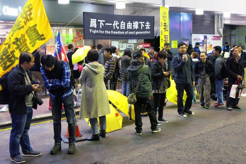 Os povos mostram dentro seu descontentamento a Hong Kong foto de stock royalty free