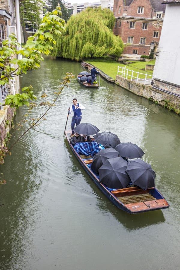 Os povos que apreciam um barco tropeçam na came do rio em Cambridge Reino Unido fotos de stock royalty free