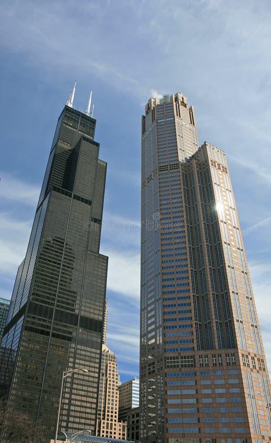 Os prédios em Chicago fotos de stock