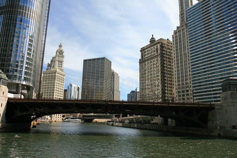 Os prédios em Chicago fotos de stock royalty free