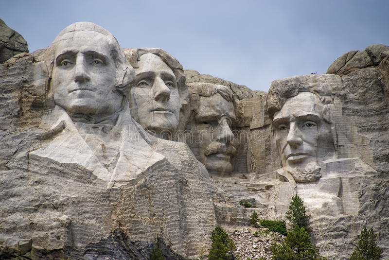 Os presidentes do Monte Rushmore, South Dakota. imagens de stock