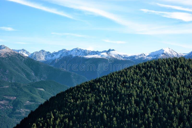 Os Pyrenees foto de stock