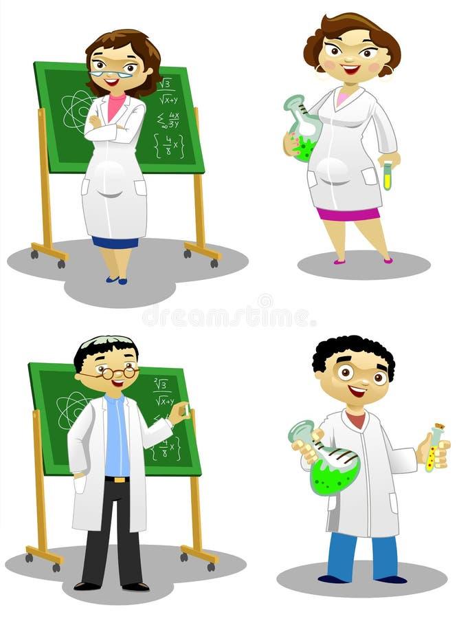 Os químicos ilustração do vetor