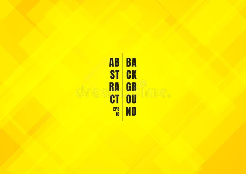 Os quadrados amarelos brilhantes da cor do sumário dão forma ao fundo bonito de sobreposição geométrico ilustração do vetor