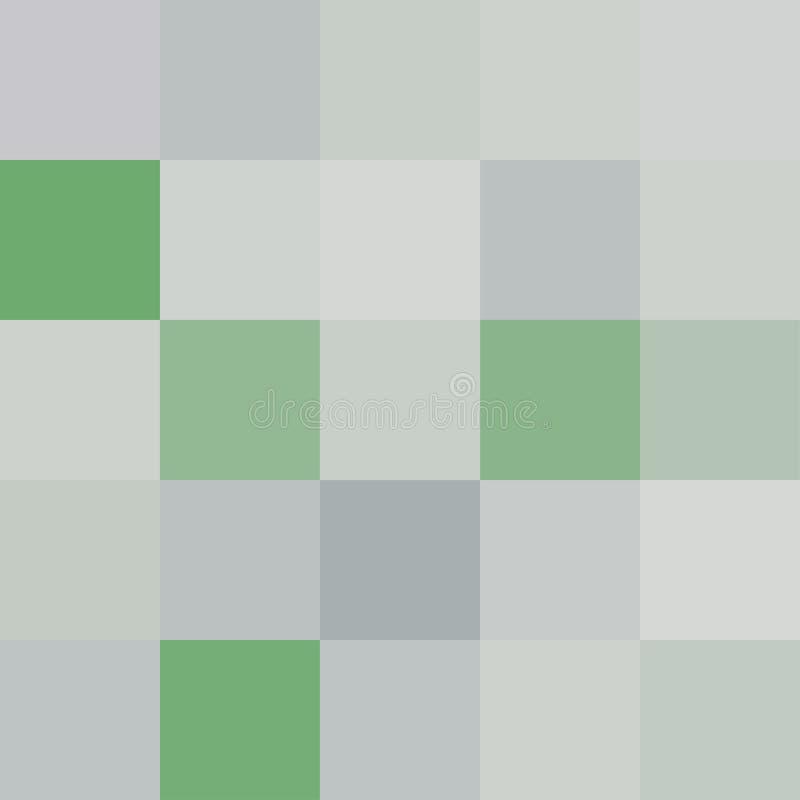 Os quadrados coloridos colorem o verde, cor brilhante pastel macia do bloco ilustração do vetor