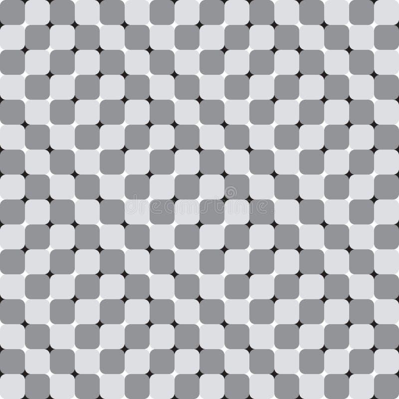 Os quadrados de ondulação, ilusão ótica, Vector o teste padrão sem emenda. ilustração do vetor