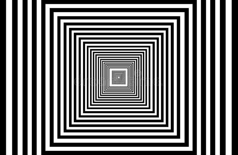 Os quadrados múltiplos abstratos são aninhados ilustração stock
