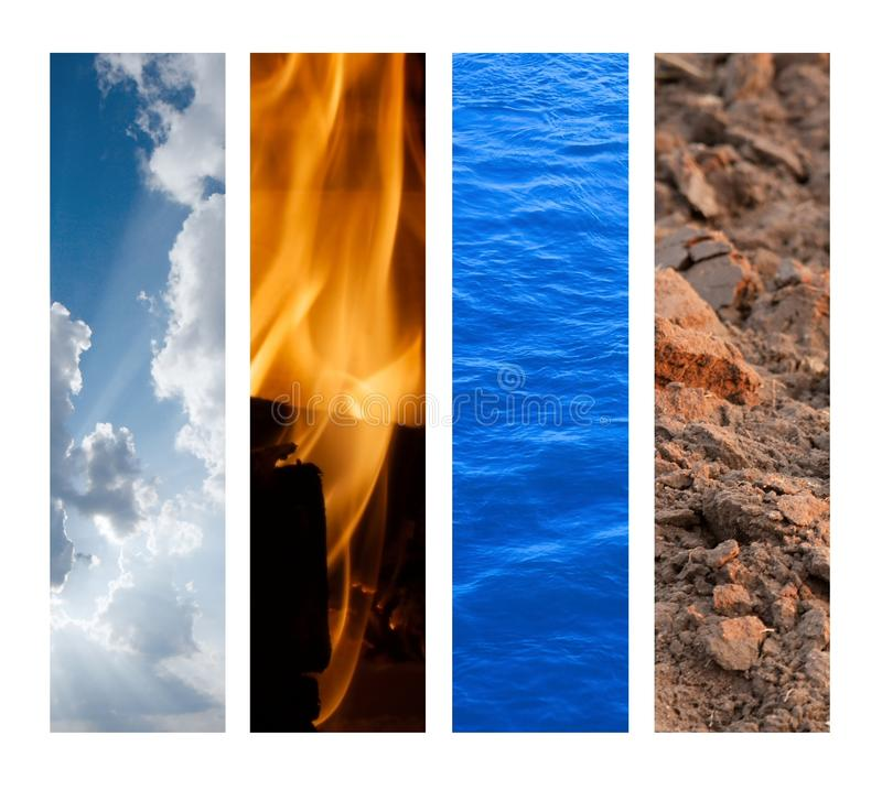 Os quatro elementos fotografia de stock royalty free
