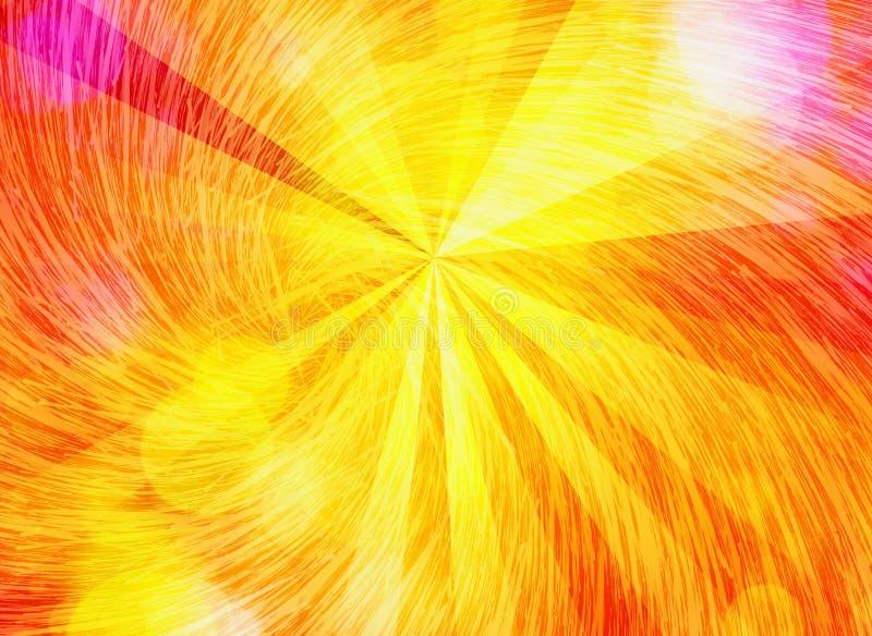 Os raios do sol da luz do sol com giro borbulham fundos ilustração do vetor