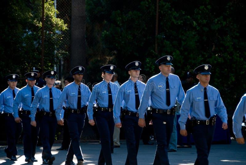 Os recrutas novos marcham - LAPD fotografia de stock royalty free