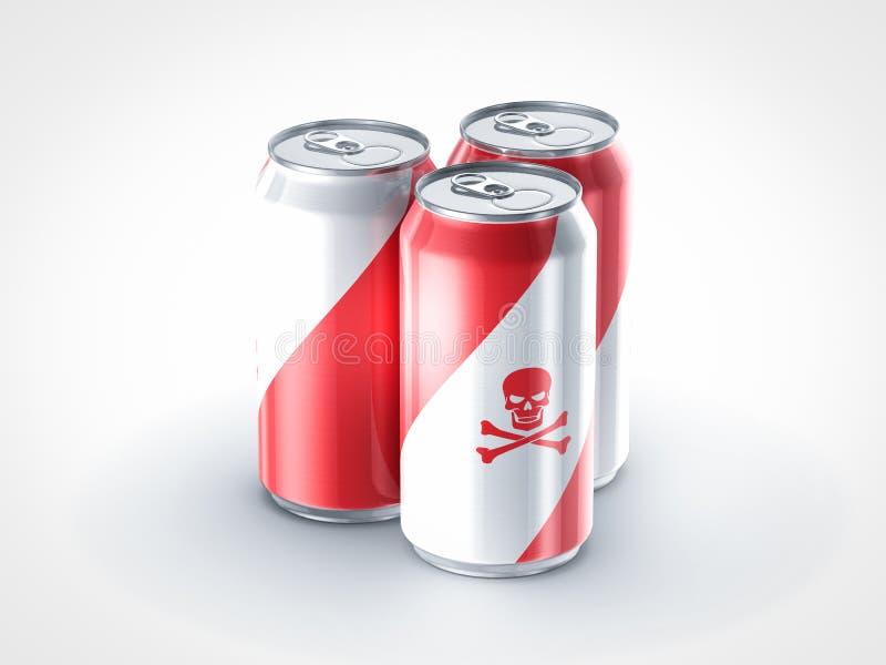 Os refrescos são veneno para a saúde ilustração stock