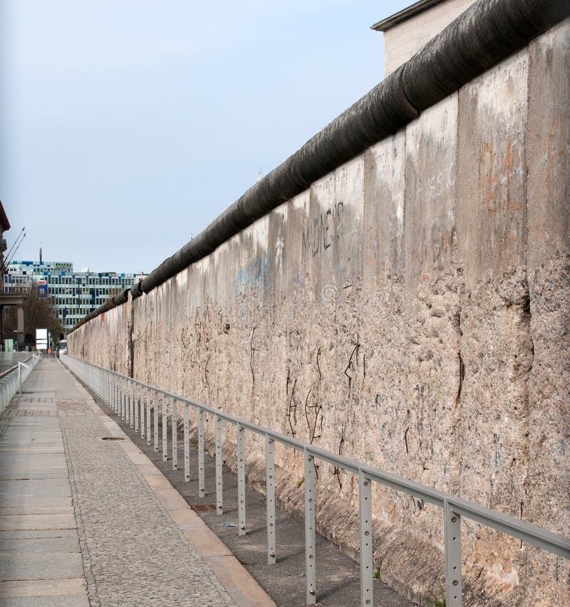 Os remains do muro de Berlim fotografia de stock