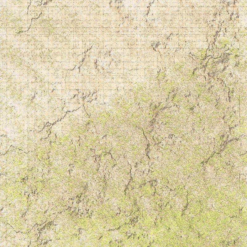 Os remendos ásperos textured a superfície superfície do grunge Colagem textured da parede ilustração royalty free