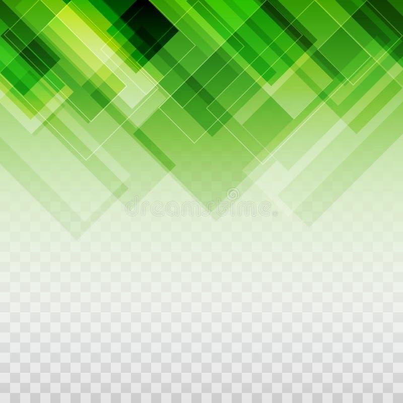 Os retângulos do verde de Gradated modelam o fundo transparente ilustração royalty free