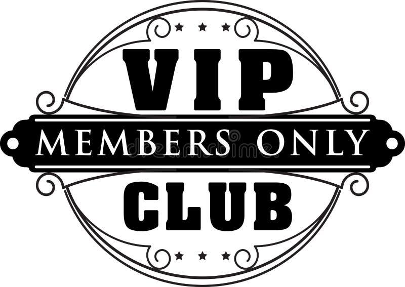 Os ricos decoram a decoração dos membros de clube do VIP somente com o à moda incomum ilustração royalty free