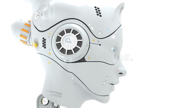 Os robôs 3d de Sai fi rendem ilustração royalty free