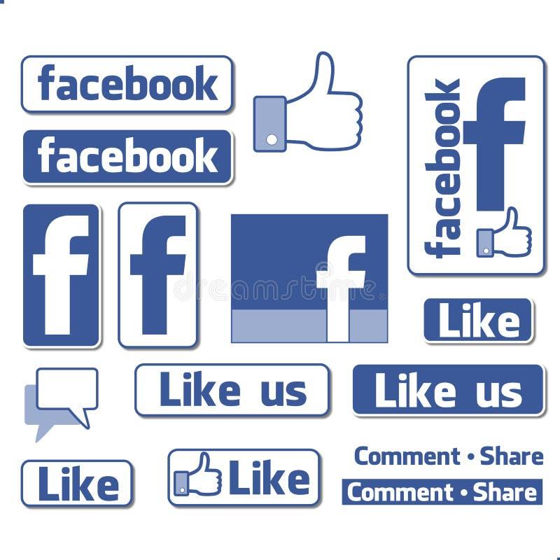 Logotipo do símbolo de Facebook ilustração do vetor