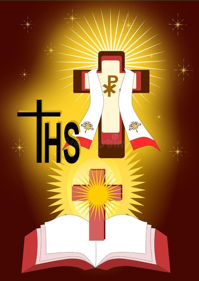 Os sacramentos das ordens santamente ilustração do vetor