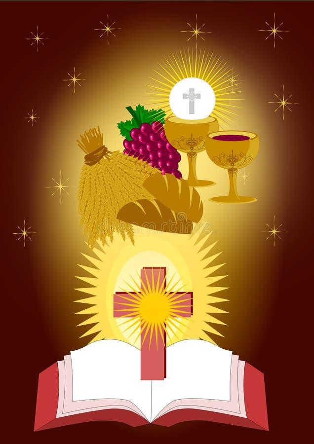Os sacramentos do eucharist ilustração stock