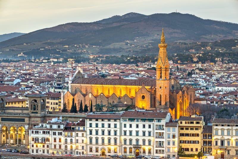 Os Santa Croce собора, Флоренс, Италия стоковые изображения rf