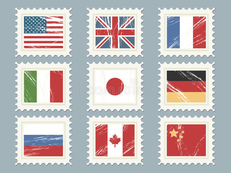 Os selos da bandeira ajustaram 1 ilustração royalty free