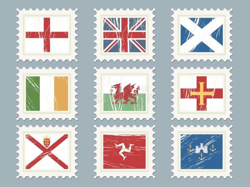 Os selos da bandeira ajustaram 2 ilustração stock