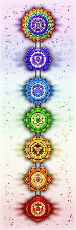 Os sete chakras ilustração royalty free
