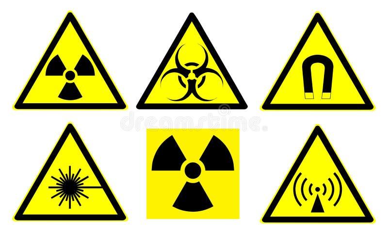 Os sinais de perigo ajustaram 1 ilustração royalty free